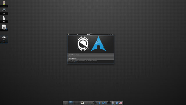 Arch Linux + Enlightenment for Raspberry Pi Setup Screen